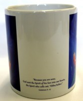 Welcome Holy Spirit mug- side view