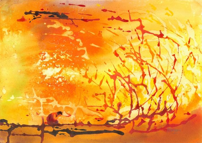 Burning bush by Mark Wiggin