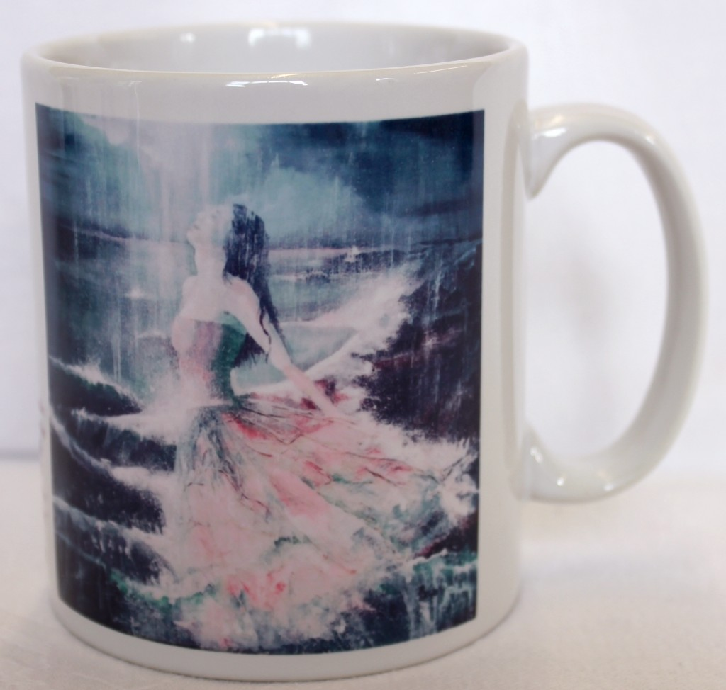 In his presence mug by Rebecca Newell