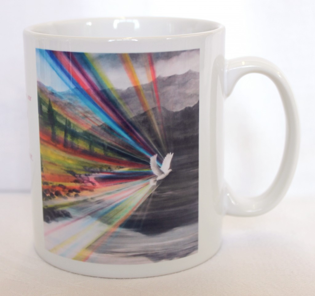 Making all things new mug by Lynne Pugh
