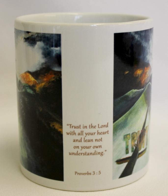 Trust mug by Rebecca Newell