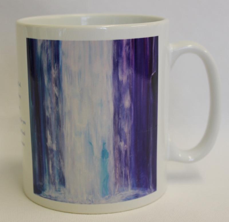 Pour over me 7 mug by Sue Newham