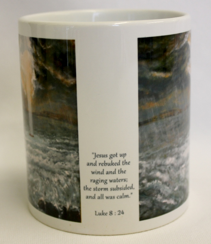 Calming the storm mug side view