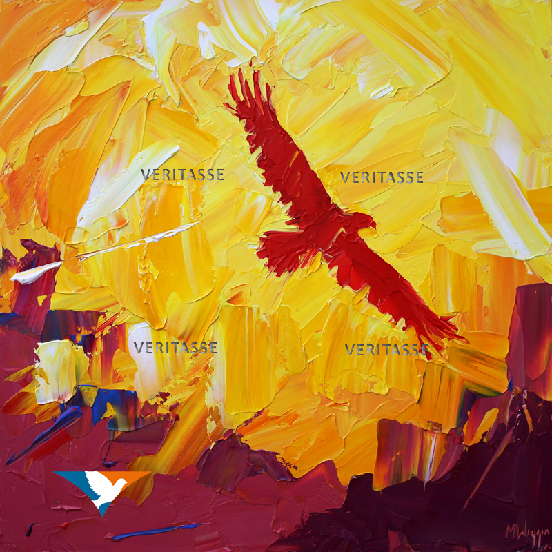 On Eagle's Wings original by Mark Wiggin