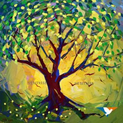 The Tree of Life original by Mark Wiggin