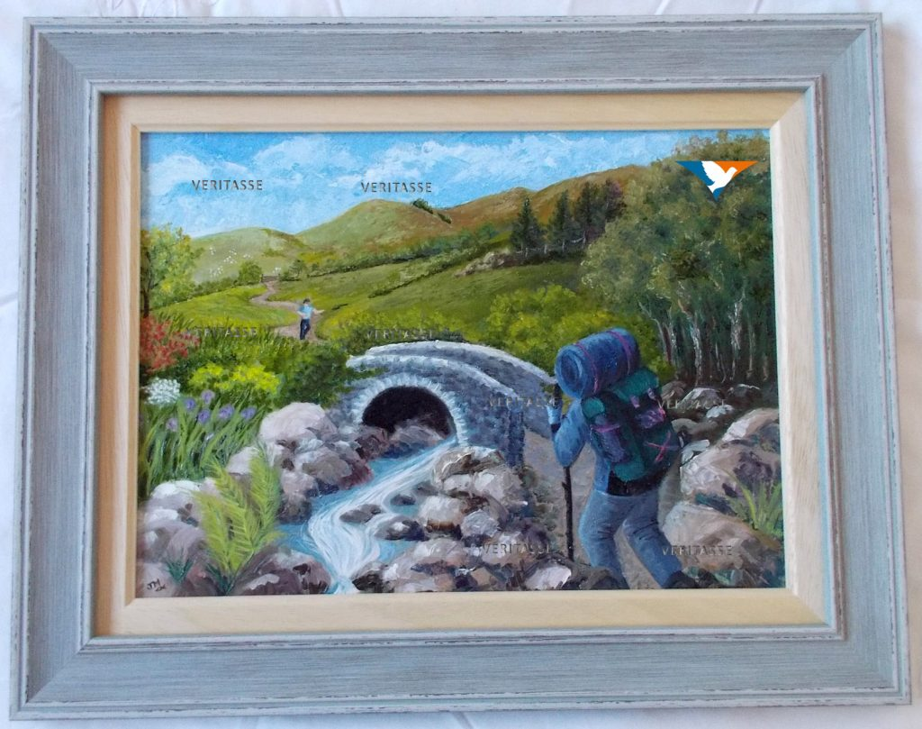 Come you who are burdened by Jean Mintoft, framed