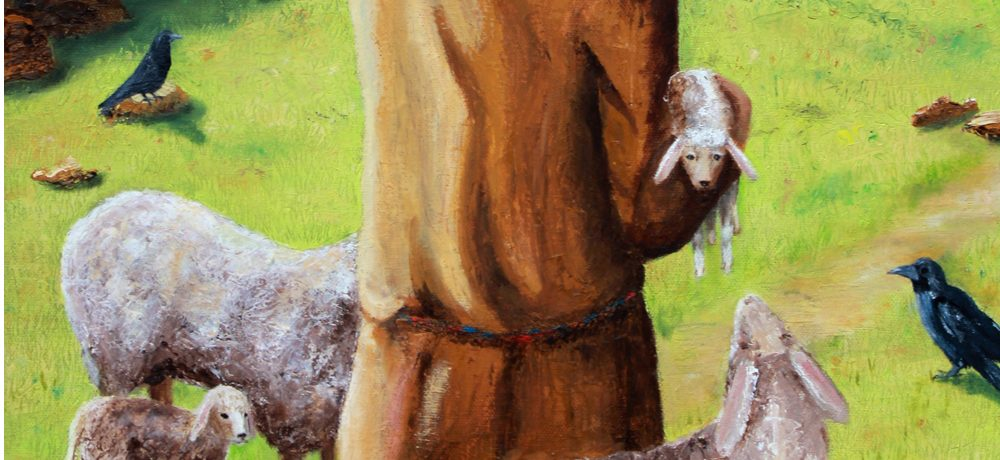 He tends his flock by Sue Newham
