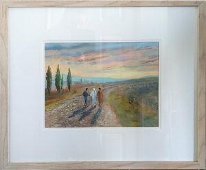 Road to Emmaus, framed